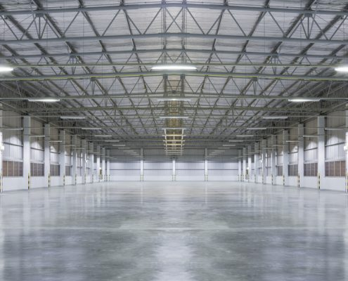 Picture of industrial floor with a floor coating